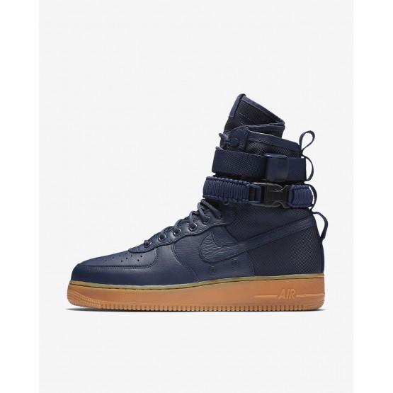 Nike SF Air Force 1 Casual Schoenen Heren Donkerblauw/Zwart/Bruine 864024-400