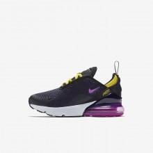 Zapatillas Casual Nike Air Max 270 Niño Negras/Amarillo AO2372-005
