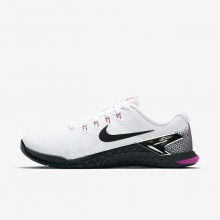 Nike Metcon 4 Training Shoes Womens White/Fuchsia Blast/Laser Orange/Black 924593-101