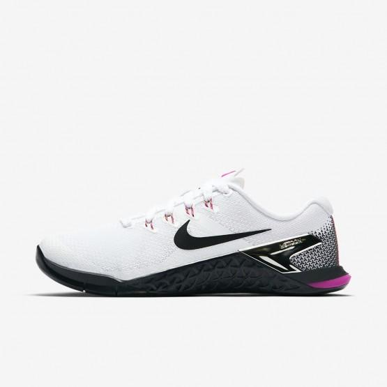 Nike Metcon 4 Training Shoes Womens White/Fuchsia Blast/Laser Orange/Black 924593-101