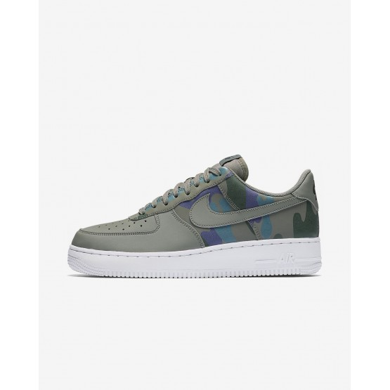 Nike Air Force 1 07 Low Camo Lifestyle Shoes Mens Dark Stucco/Dark Raisin/Vintage Green 823511-008