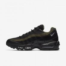 Nike Air Max 95 HAL Lifestyle Shoes Mens Black/Cargo Khaki/Flat Silver AH8444-001