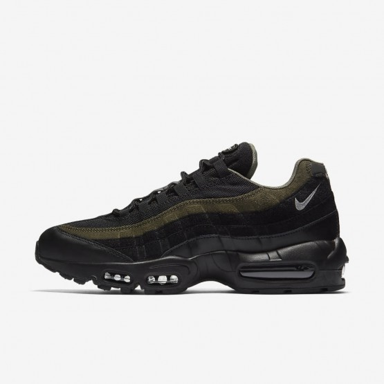 Nike Air Max 95 HAL Lifestyle Shoes Mens Black/Cargo Khaki/Flat Silver AH8444-001