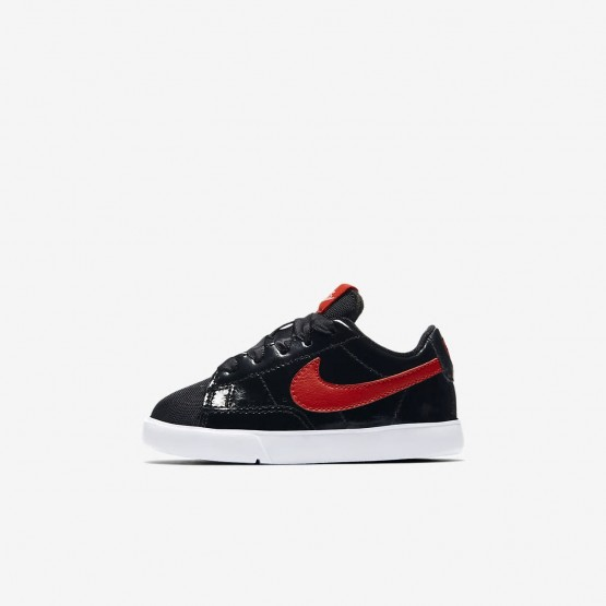 Nike Blazer Low QS Lifestyle Shoes Girls Black/Bleached Coral/Speed Red AO1035-001