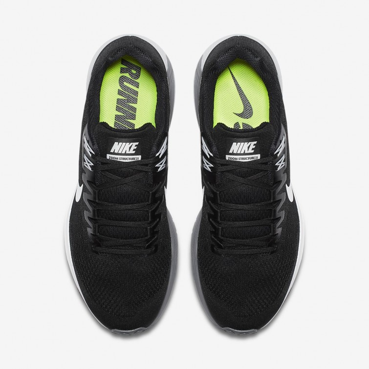 promo code 0160b 36a7c ... Chaussure Running Nike Air Zoom Structure 21 Homme NoirGriseGriseBlanche  904695 ...