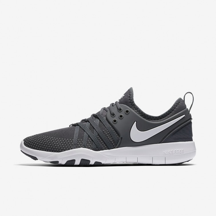 6bf262a40ca83 Nike Free TR Training Shoes Womens Dark Grey White 904651-002