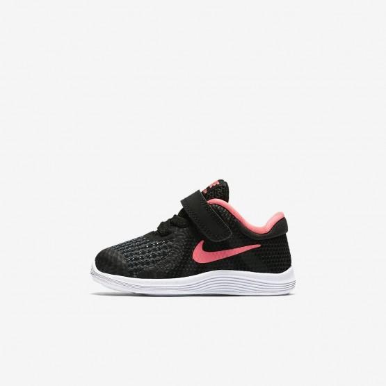 Zapatillas Running Nike Revolution 4 Niña Negras/Blancas/Rosas 943308-004