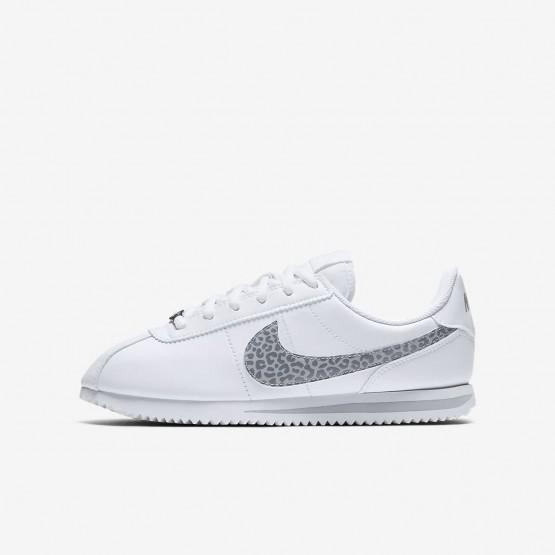 Sapatilhas Casual Nike Cortez Basic SL Menina Branco/Cinzentas AH7528-100