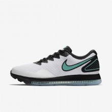Nike Zoom All Out Running Shoes Mens White/Black/Clear Jade AJ0035-101