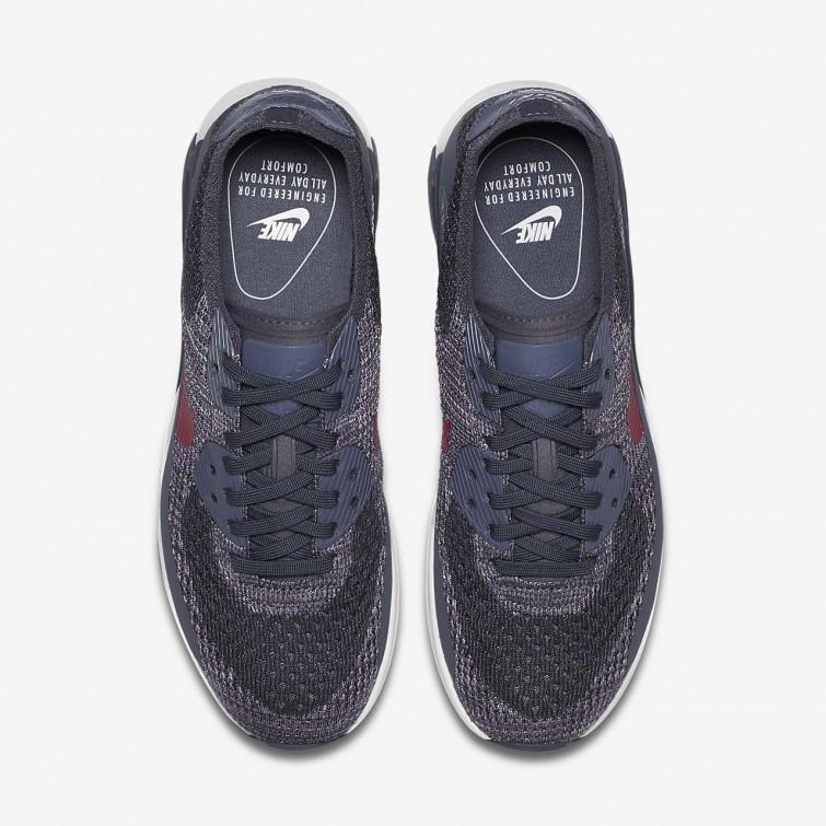 e87ff105591b ... Nike Air Max 90 Ultra 2.0 Flyknit Lifestyle Shoes Womens Light Carbon  White Fuchsia ...