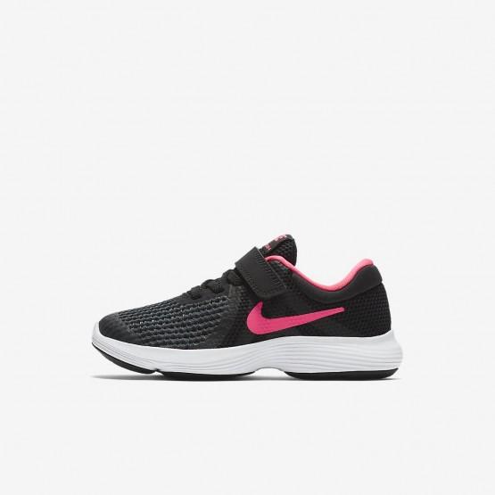 Nike Revolution 4 Running Shoes Girls Black/White/Racer Pink 943307-004