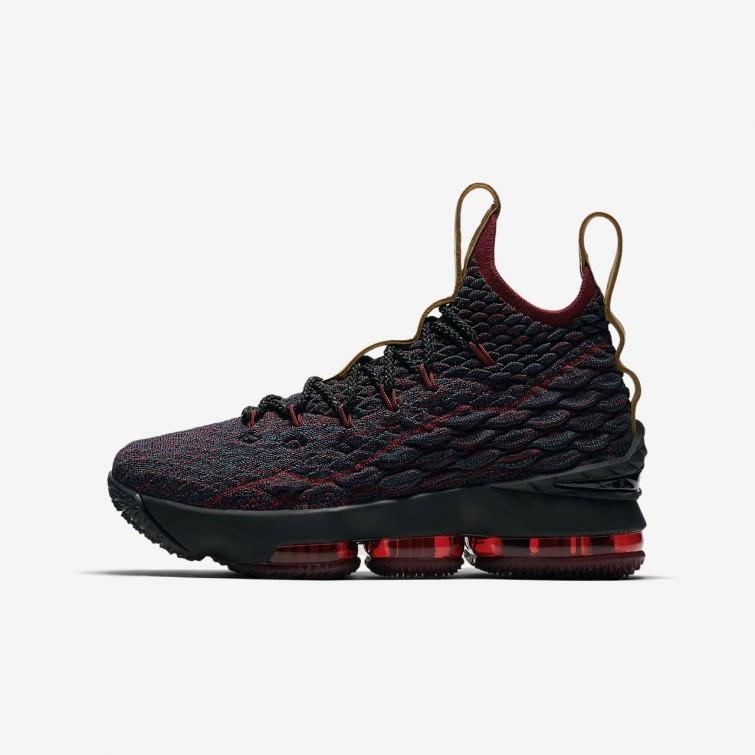 dbff706cd823 Nike LeBron 15 Basketball Shoes Boys Dark Atomic Teal Team Red Muted Bronze