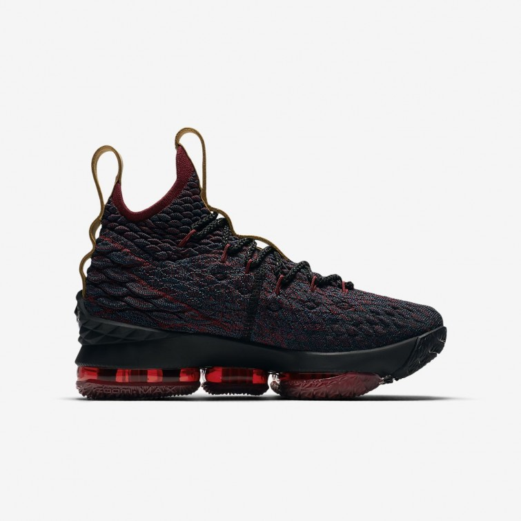 50fcd1d4d3fe ... Nike LeBron 15 Basketball Shoes Boys Dark Atomic Teal Team Red Muted  Bronze  ...
