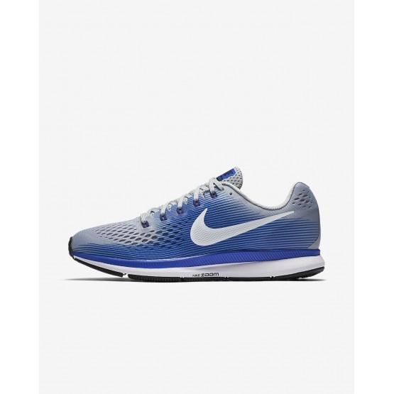Nike Air Zoom Pegasus 34 Laufschuhe Herren Grau/Blau/Tiefes Königsblau Blau/Weiß 880555-007