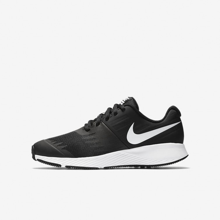 the latest 71409 89a64 Nike Star Runner Running Shoes Girls BlackVoltAnthraciteWhite 907254-001
