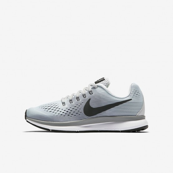 Nike Zoom Pegasus 34 Running Shoes Boys Pure Platinum/Cool Grey/Wolf Grey/Anthracite 881953-004