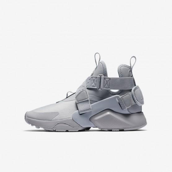 Nike Huarache City Casual Schoenen Jongens Grijs/Zwart/Wit AJ6662-002