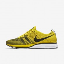 Nike Flyknit Trainer Lifestyle Shoes Mens Bright Citron/White/Black AH8396-700