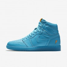 Nike Air Jordan 1 Retro High OG Cool Blue Lifestyle Shoes Mens Blue Lagoon AJ5997-455