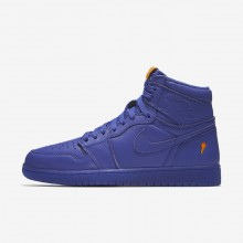 Chaussure Casual Nike Air Jordan 1 Retro High OG Grape Homme Bleu Marine AJ5997-555