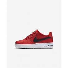 Nike Air Force 1 LV8 NBA Lifestyle Shoes Boys University Red/White/Black 820438-606