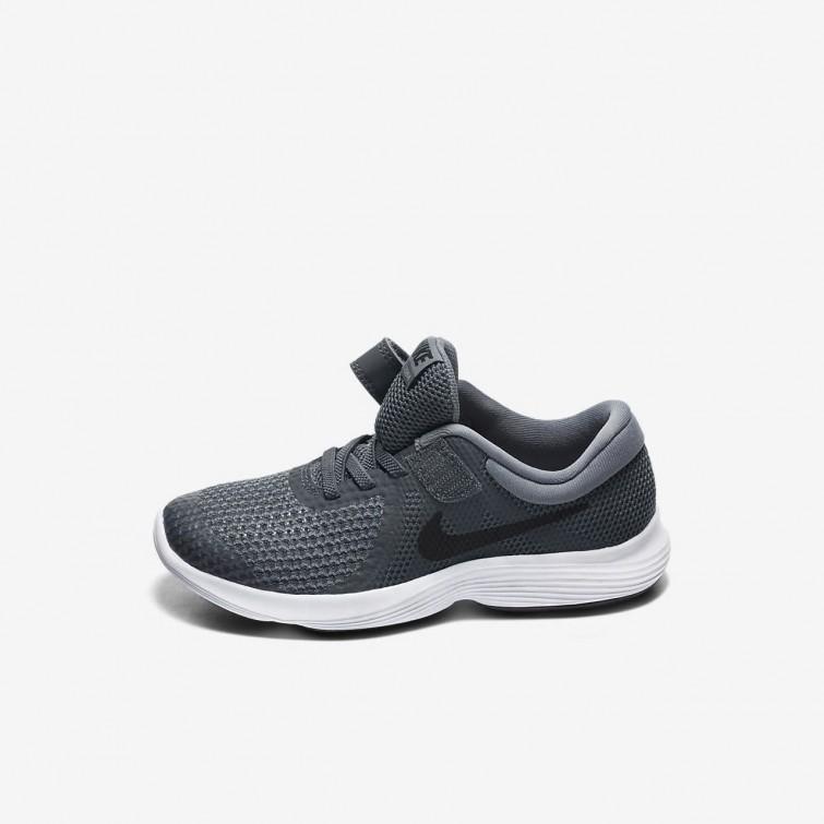 460a6f792efe4 ... Sapatilhas Running Nike Revolution 4 Menina Cinzentas  Escuro Cinzentas Branco Pretas 943305-