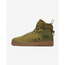 Nike SF Air Force 1 Mid Lifestyle Shoes Mens Desert Moss/Gum Medium Brown/Black 917753-301