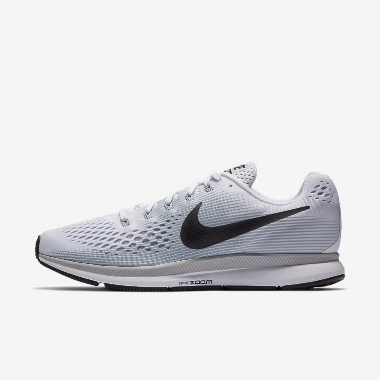 san francisco fac18 9db1f Nike Air Zoom Pegasus 34 Running Shoes Mens White Pure Platinum Wolf Grey
