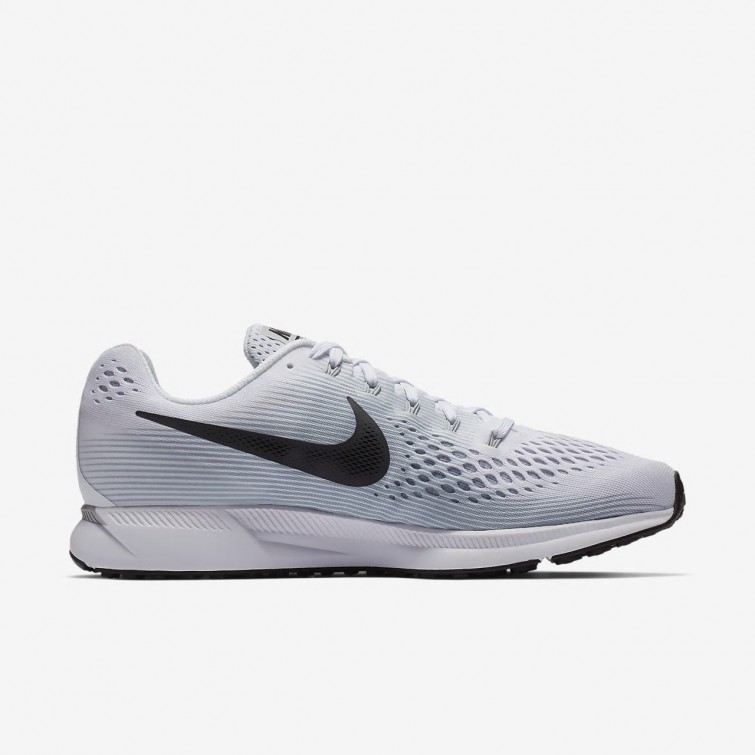 9321b1f333e8a ... Nike Air Zoom Pegasus 34 Running Shoes Mens White Pure Platinum Wolf  Grey  ...