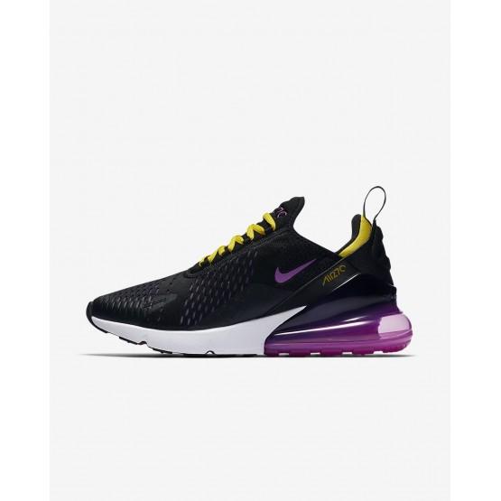 Nike Air Max 270 Lifestyle Shoes Mens Black/Hyper Grape/Tour Yellow/Hyper Magenta AH8050-006