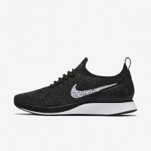 Nike Air Zoom Mariah Flyknit Racer Lifestyle Shoes Womens Black/Dark Grey/White AA0521-006