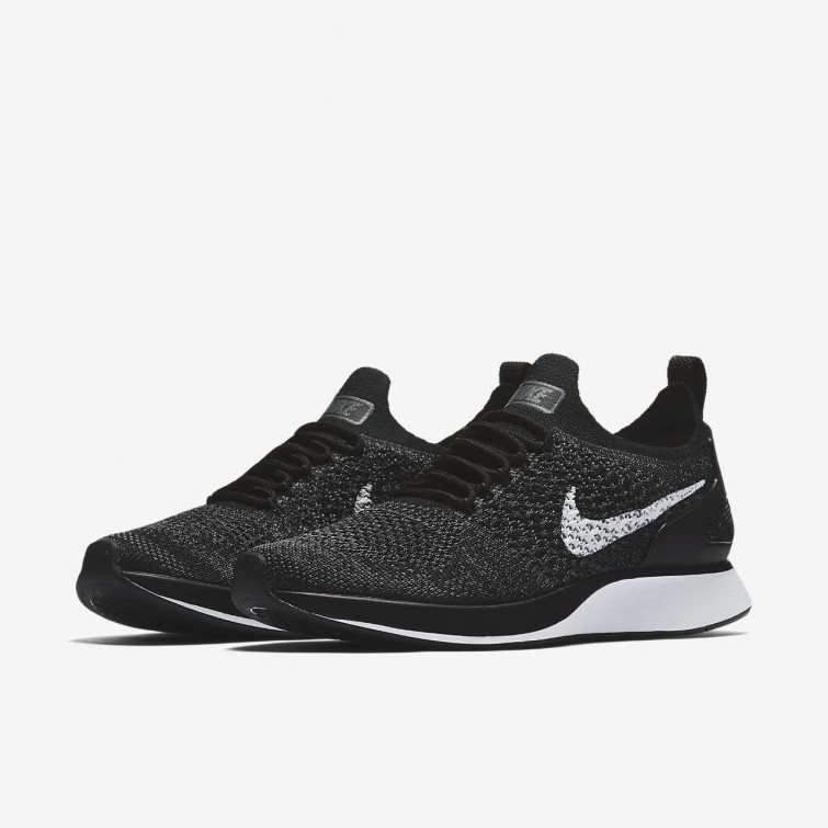 62883972adab8 ... Nike Air Zoom Mariah Flyknit Racer Lifestyle Shoes Womens Black Dark  Grey White AA0521