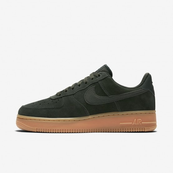 Nike Air Force 1 07 SE Lifestyle Shoes Womens Outdoor Green/Gum Medium Brown/Ivory AA0287-300
