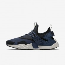 Nike Air Huarache Drift Lifestyle Shoes Mens Thunder Blue/Black/White/Desert Sand AH7334-401