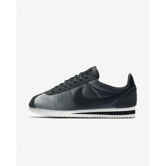 Nike Cortez SE Lifestyle Shoes Womens Anthracite/Metallic Gold/Black 902856-012