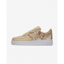 Nike Air Force 1 Lifestyle Shoes Mens Bio Beige/Orange Quartz/Terra Orange 823511-202