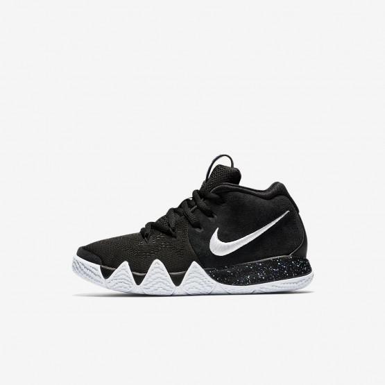 Nike Kyrie 4 Basketbalschoenen Meisjes Zwart/LichtBlauw/Wit AA2898-002