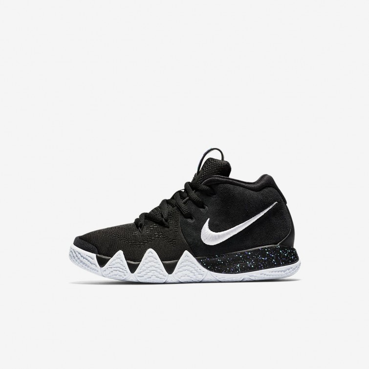 Nike Kyrie 4 Basketball Shoes Girls Black Anthracite Light Racer Blue White  AA2898 4fa7336ec626