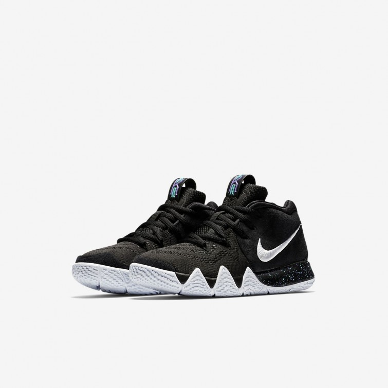 3eccd15cabcd ... Nike Kyrie 4 Basketball Shoes Girls Black Anthracite Light Racer  Blue White AA2898