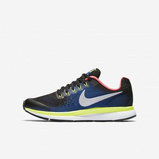Nike Zoom Pegasus 34 Hardloopschoenen Jongens Zwart/Blauw 881953-005