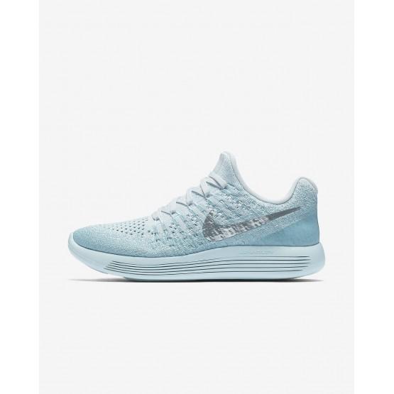 Nike LunarEpic Low Flyknit 2 Running Shoes Womens Glacier Blue/Polarized Blue/Wolf Grey/Metallic Silver 863780-405