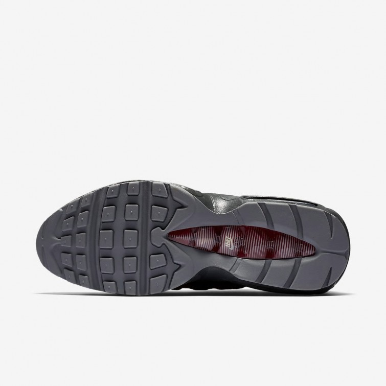 finest selection b83a1 c3487 Nike Air Max 95 Lifestyle Shoes Mens Anthracite Wolf Grey Team Red Cool ...