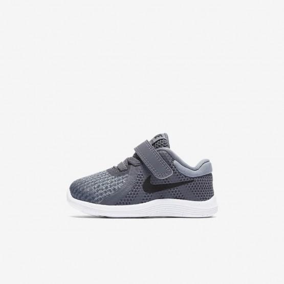 Nike Revolution 4 Running Shoes Girls Dark Grey/Cool Grey/White/Black 943304-005