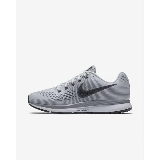 Zapatillas Running Nike Air Zoom Pegasus 34 Mujer Plateadas/Gris/Negras 880560-010