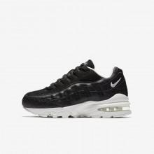 Nike Air Max 95 Lifestyle Shoes Boys Black/Summit White 922173-002
