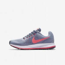 Nike Zoom Pegasus 34 Running Shoes Girls Provence Purple/Light Carbon/Black/Solar Red 881954-501
