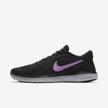 Nike Flex 2017 RN Running Shoes Womens Black/Hyper Magenta/Wolf Grey/Fuchsia Glow 898476-014