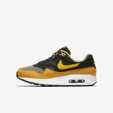 Nike Air Max 1 Lifestyle Shoes Boys Dark Stucco/Black/Mineral Yellow/Vivid Sulfur 807602-007