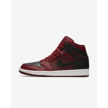 Nike Air Jordan 1 Mid Lifestyle Shoes Mens Team Red/Summit White/Gym Red 554724-601