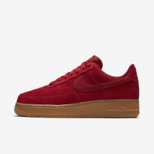 Nike Air Force 1 Lifestyle Shoes Womens Gym Red/Gum Light Brown/Speed Red 896184-601